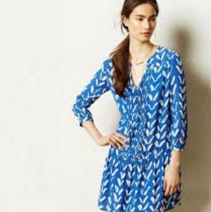 Maeve blue drop waist dress